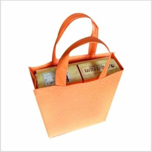 Non Woven Carry Bag With Side Gusset For Box Packaging Solution