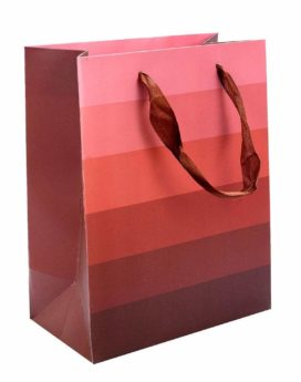 Dori Handle Red Color Printed Paper Bag For Shopping Needs