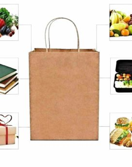 Our paper bags are more durable and can be used for multipurpose items packaging